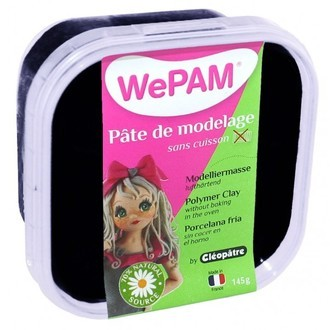 CLEOPATRE - Porcelaine à modeler noir WePam en pot 145 g