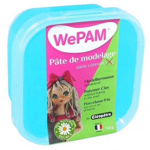 Achat en ligne Pâte de modelage sans cuisson turquoise WePam en pot 145 g