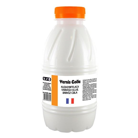 Vernis colle satinée en flacon 500g