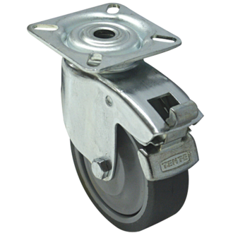 Roulette de manutention pivotante à frein D75 75K