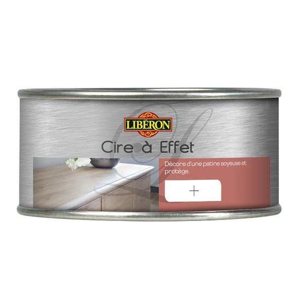 Cire pour meubles à effet acier en pot 0,25l