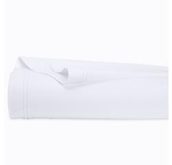 compra en línea Sábana lisa de percal con reborde blanco (270 x 300 cm)