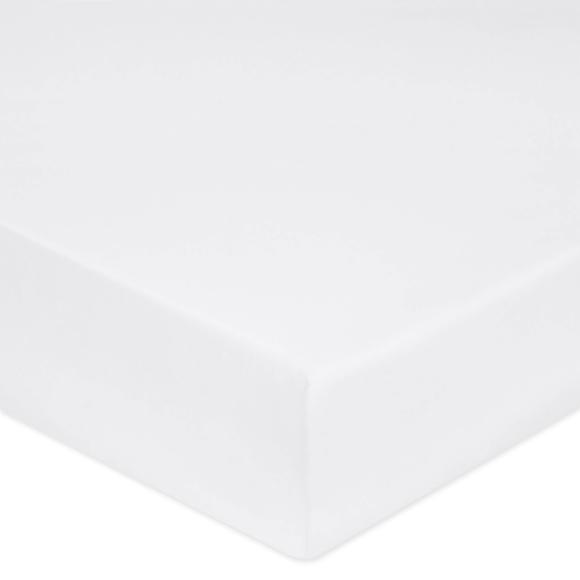 acquista online Lenzuolo con angoli piazza e mezza in cotone percalle bianco