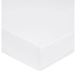 compra en línea Sábana bajera percal blanca de colchón grueso (160 x 200 cm)