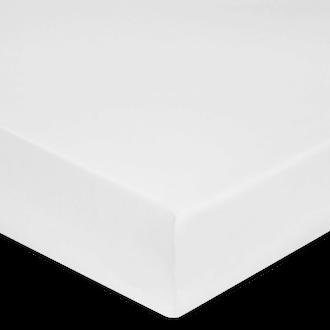 Drap housse percale blanche grande épaisseur200x200cm