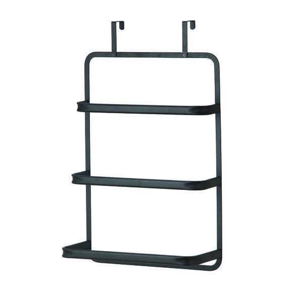 Porte serviette à suspendre en métal noir Retro