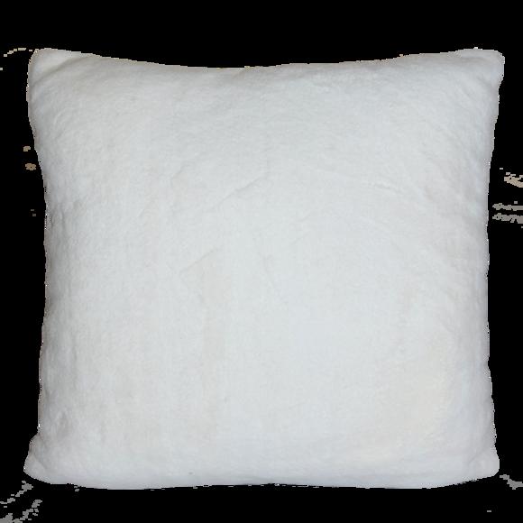 coussin fausse fourrure rabbit blanc 40x40 cm pas cher z dio. Black Bedroom Furniture Sets. Home Design Ideas