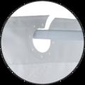 Rideau de douche 100% polyester à pompons bleus 180x200cm