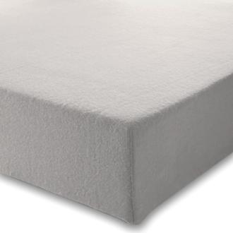 Maom - drap housse en flanelle gris nuage 160x200cm