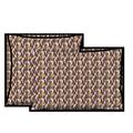 Taie d'oreiller en percale terre rouge Carillon 50x70cm