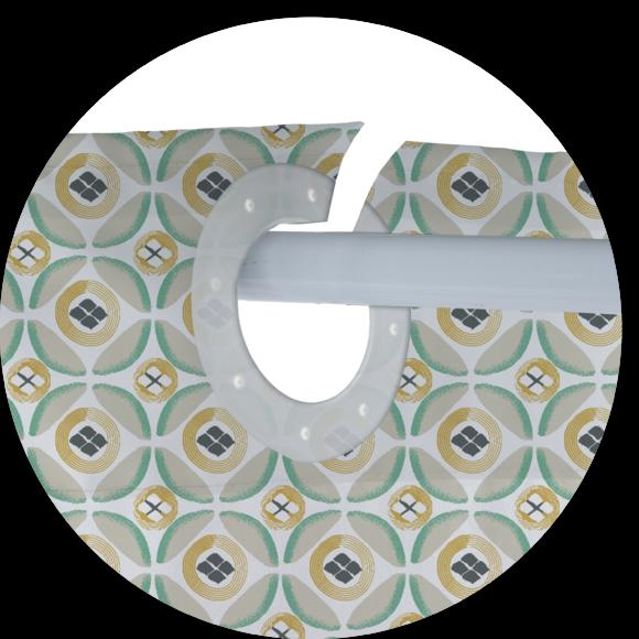 Rideau de douche 100% polyester Crépin 180x200cm