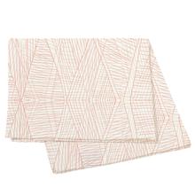 Achat en ligne Nappe 150x250cm en coton imprimé beige et orange Anouck