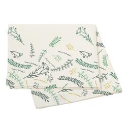 Achat en ligne Nappe 150x250cm en coton imprimé feuillage vert Leonara