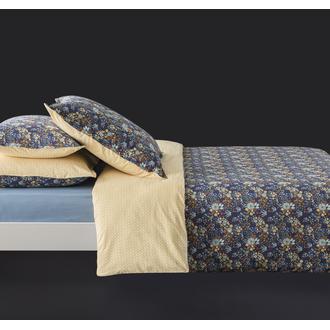 MAOM - Taie d'oreiller carrée en percale imprimée Happy Flowers 65x65cm