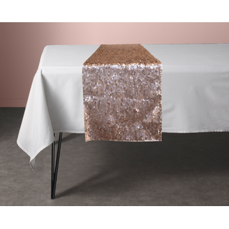 Chemin de table stellaire doré rose 30x150cm
