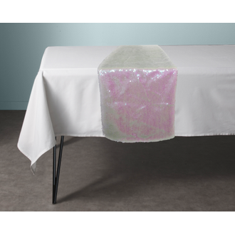 Chemin de table rainbow blanc 30x150cm