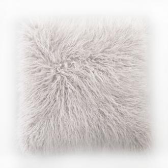 Zodio- coussin poils longs tenor blanc 45x45cm