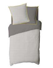 Achat en ligne Housse de couette 140x200cm en toile coton Clea gris cendre