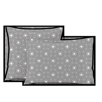 MAOM - Taie d'oreiller carrée en percale imprimée Virgile Best 65x65cm