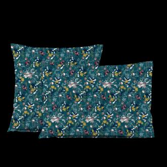 MAOM - Taie d'oreiller carrée en percale imprimée Ulma Peacok 65x65cm