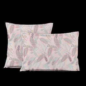 MAOM - Taie d'oreiller carrée en percale imprimée Lanay Pink 65x65cm