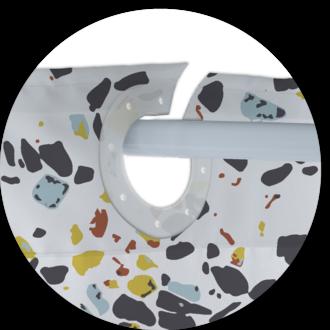 ZODIO - Rideau de douche 100% polyester Pinto 180x200cm
