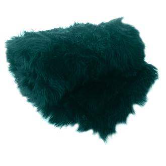 Zodio- plaid fausse fourrure indis peacock 125x150cm