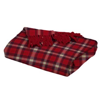 Zodio- plaid tissé flanelle tartan rouge perth 125x150cm