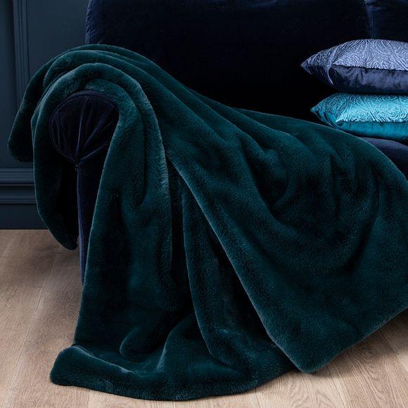 Achat en ligne Plaid en fausse fourrure vert malachite Olga 125x150cm