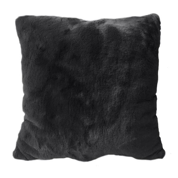 Achat en ligne Coussin en fausse fourrure gris charbon Olga 40x40cm