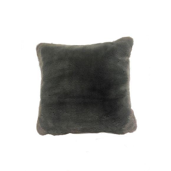 Cuscino quadrato in ecopelliccia grigio Zodio 40x40cm