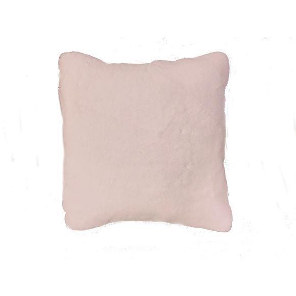 Cuscino quadrato in ecopelliccia rosa 40x40cm