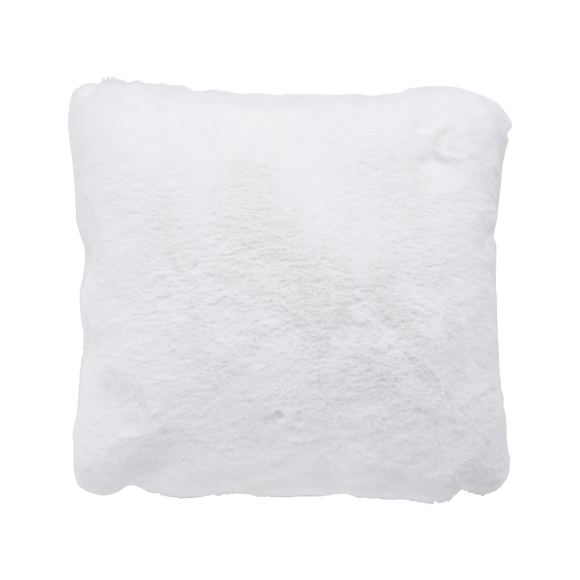 Achat en ligne Coussin carrée 40x40cm en fausse fourrure blanc titane Olga