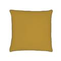 Federa quadrata in cotone percalle giallo curry 65x65cm