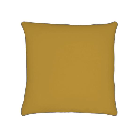 Achat en ligne Taie d'oreiller en percale avec bourdon jaune curry 65x65cm