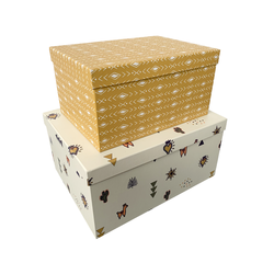 Achat en ligne 2 boîtes carton imprimées