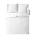Federa in cotone percalle bianco ponpon multicolor 50X70cm