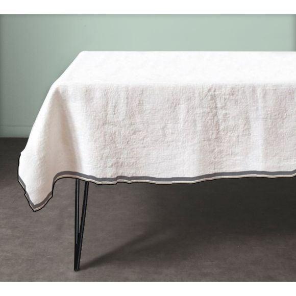 acquista online Tovaglia quadrata in cotone, bianco 150x150 cm