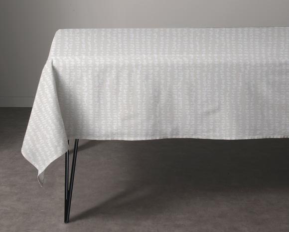 Achat en ligne Nappe 150x250cm en coton imprimé beige Trama