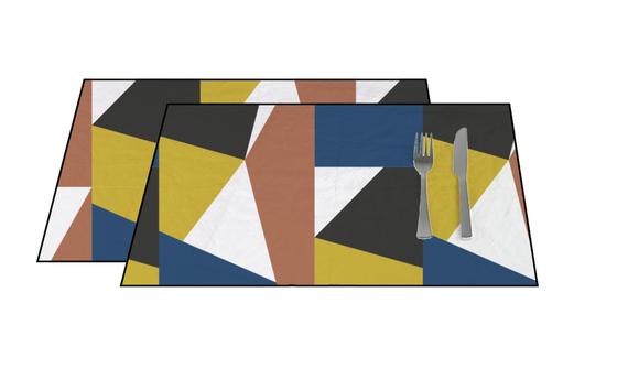 Achat en ligne Set de table en coton 140 g Abstract 33x48 cm