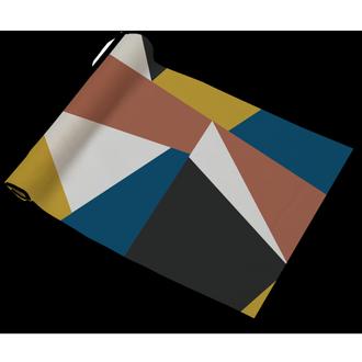 Chemin de table en coton 140g abstract 50x150 cm