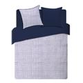 Federa quadrata in cotone percalle righe blu 65x65