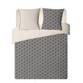 Federa quadrata in cotone percalle gemetrico blu 65x65