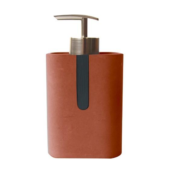 Distributeur de savon béton terracotta Comete