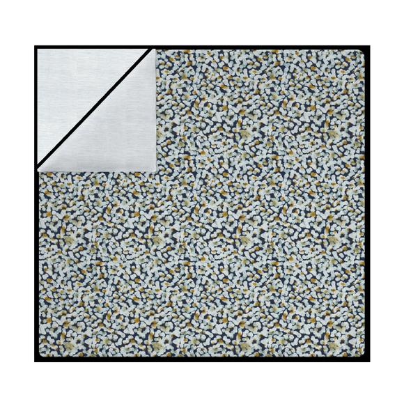 Copriumino piazza e mezzo cotone percalle a pois blu e giallo