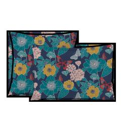 acquista online Federa quadrata in cotone percalle a fantasia floreale 65x65