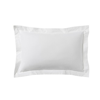 Zodio - taie d'oreiller rectangle en coton blanc 50x70cm