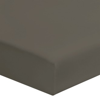 Zodio - drap housse en coton zinc 160x200cm