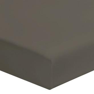 Zodio - drap housse en coton zinc 180x200cm