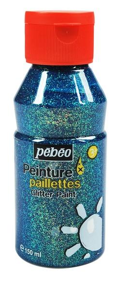 Achat en ligne Peinture effet paillettes turquoise 150ml